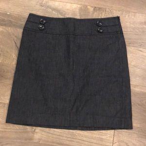 Loft Pencil Skirt Size 2 Chambray